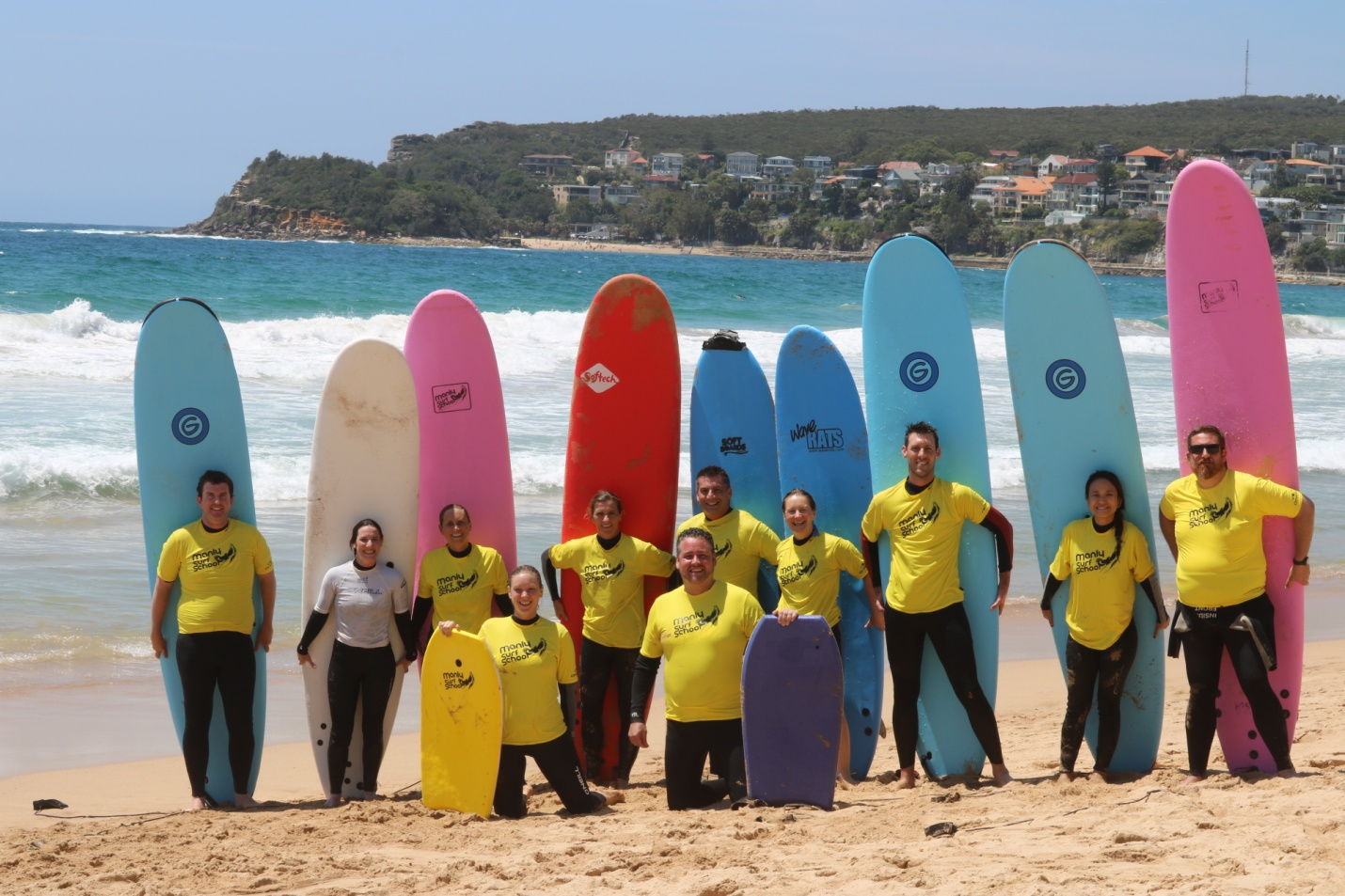 2016 AirPlus International Christmas Party, Surfing lesson on Manly beach.
